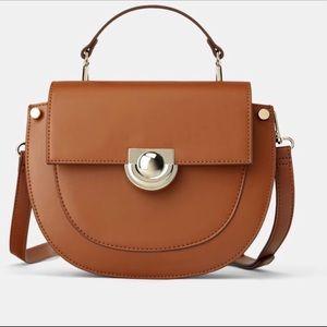 Zara oval shaped shoulder bag